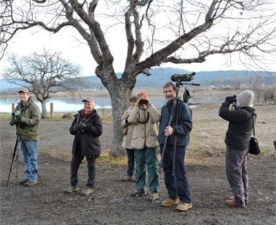 Birders at Agate Lake