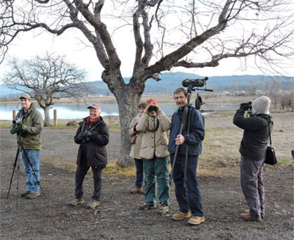 Birders at Agate Lake